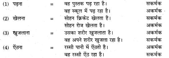 RBSE Class 10 Hindi व्याकरण क्रिया