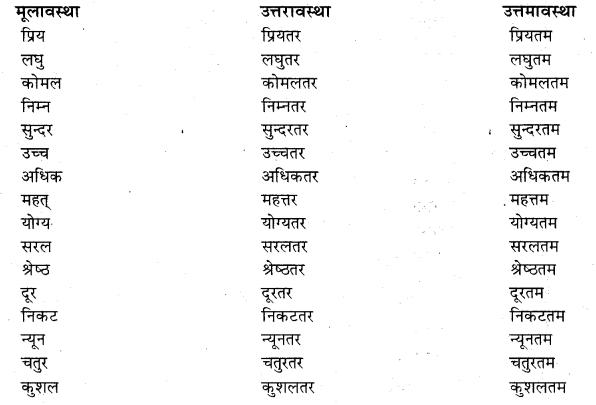 Hindi Visheshan List RBSE Class 10