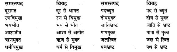 Class 10 Hindi Grammar Samas Solutions
