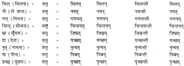 Prakriti Pratyay In Sanskrit Class 10 RBSE