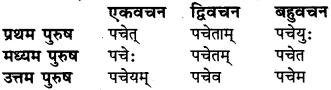 संस्कृत में लकार बताइए RBSE Class 6