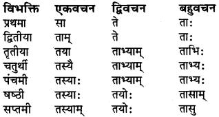 संस्कृत शब्द रूप Class 6 RBSE