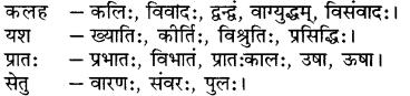 संस्कृत पर्यायवाची शब्द लिस्ट RBSE Class 7