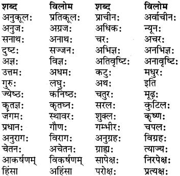Paryayvachi Shabd In Sanskrit For Class 7 RBSE