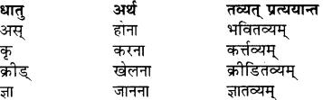 Sanskrit Pratyay Class 7 RBSE