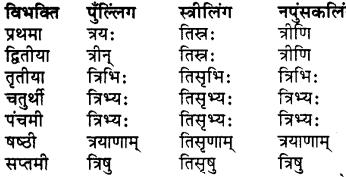 Bahuvachan In Sanskrit RBSE Class 7