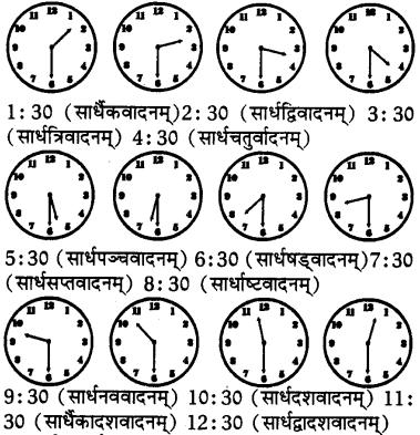 Samay Lekhan In Sanskrit Class 7 RBSE