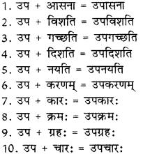 उपसर्ग संस्कृत में RBSE Class 8