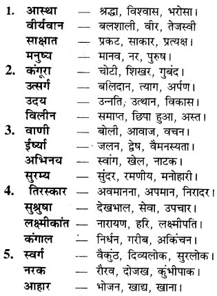 Paryayvachi Shabd In Hindi For Class 9 RBSE