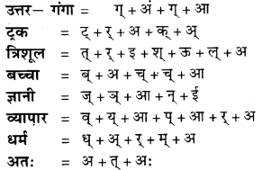 वर्ण Viched Examples Class 9 RBSE