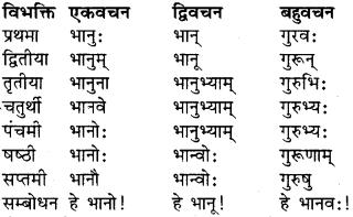 Class 9 Sanskrit Dhatu Roop RBSE Solution