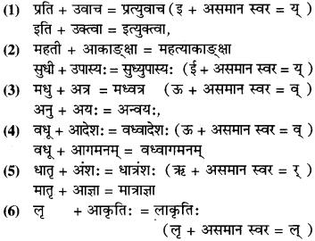 Class 9 Sanskrit Sandhi RBSE