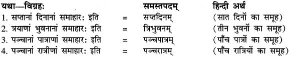 Avyayibhav Samas Examples In Sanskrit RBSE
