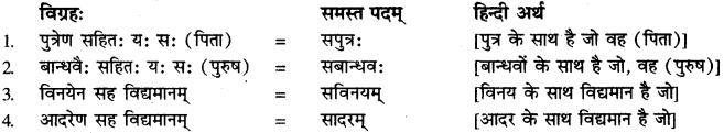 अव्ययीभाव समास संस्कृत में RBSE