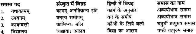 Samas Vigrah Sanskrit RBSE