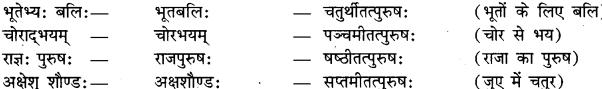 समास-विग्रह कीजिए Class 9 In Sanskrit RBSE