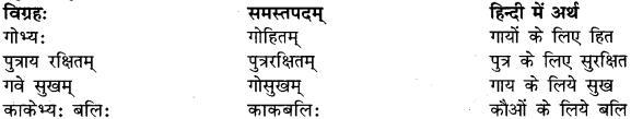 तत्पुरुष समास उदाहरण In Sanskrit RBSE