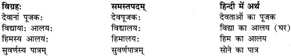 Tatpurush Samas In Sanskrit RBSE