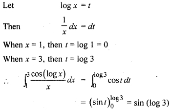 RBSE Solutions Class 12 Maths Ex 10.2 Definite Integral