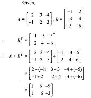 Matrices Class 11 Solutions RBSE