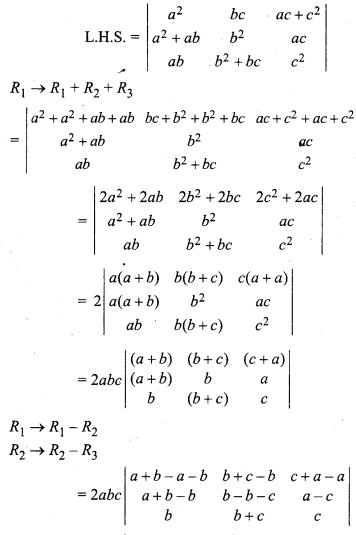 Class 12 Maths Ex 4.2 Solutions Determinants