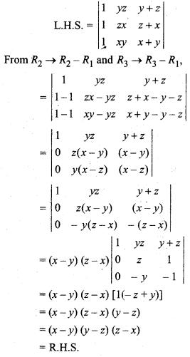 Class 12 Maths Exercise 4.2 Determinants