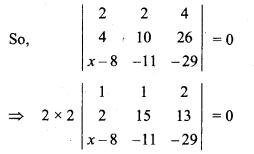 Ex 4.2 Class 10 RBSE Determinants