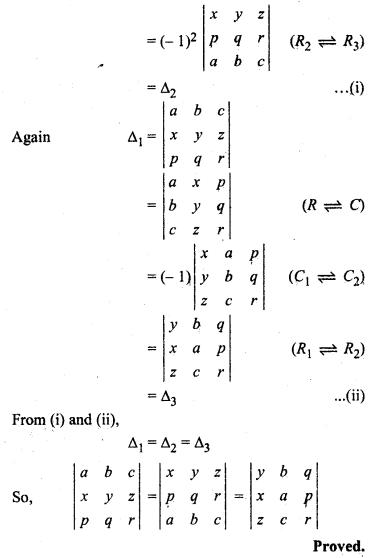 Class 12 Maths Ex 4.2 Determinants