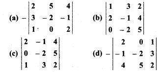 RBSE Solution Class 12th Math Chapter 4 Determinants Miscellaneous Exercise