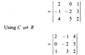 RBSE Solutions Maths Class 12 Chapter 4 Determinants Miscellaneous Exercise