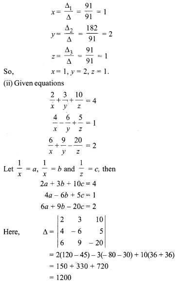 5.2 Class 12 Maths Inverse Of A Matrix And Linear Equations RBSE