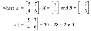 Class 12 Maths RBSE Chapter 5 Solutions Inverse Of A Matrix And Linear Equations