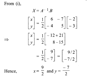 Exercise 5.2 Class 12 Maths RBSE Solutions Inverse Of A Matrix And Linear Equations