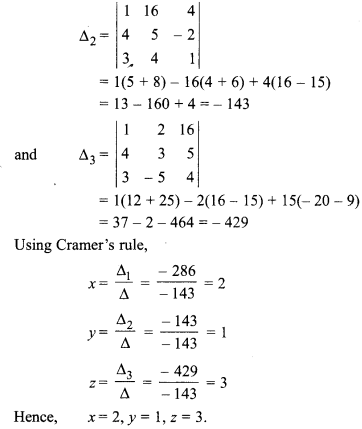 Maths Class 12 Chapter 5 Exercise 5.2 Inverse Of A Matrix And Linear Equations
