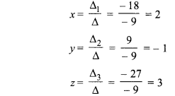 RBSE Solutions Class 8 Maths Chapter 5 Exercise 5.2 Inverse Of A Matrix And Linear Equations
