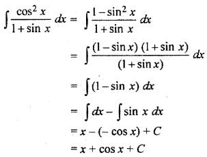 RBSE Class 12 Maths Solutions Integration