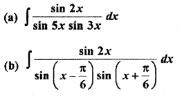 Exercise 9.2 Class 12th Maths Integration RBSE
