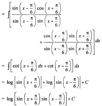 RBSE Solutions For Class 10 Maths Chapter 9 Integration