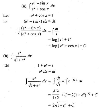 RBSE Class 12 Maths Chapter 9 Solution Integration