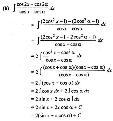 Class 12 Maths 9.2 Solutions Integration RBSE