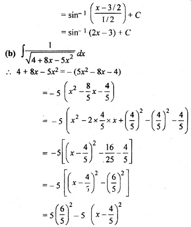 Class 12 Maths Exercise 9.3 Integration RBSE
