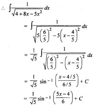 Class 12 Exercise 9.3 Solution Integration RBSE