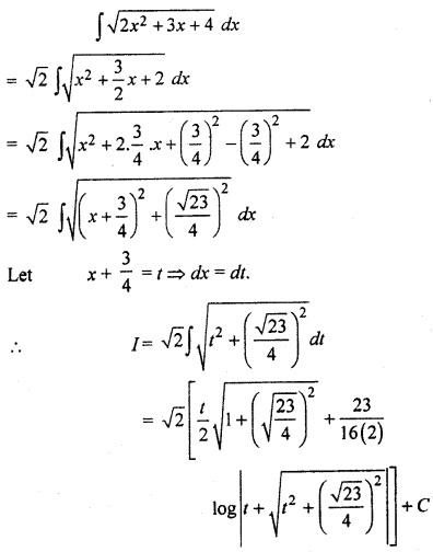RBSE Solution Class 12 Math