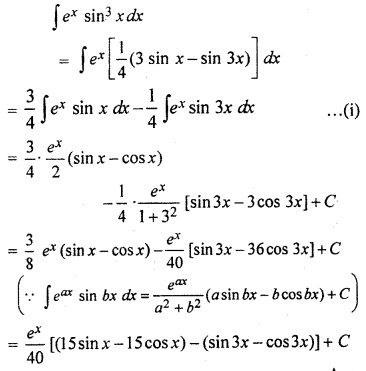 12th Maths RBSE Solution Integration Miscellaneous Exercise