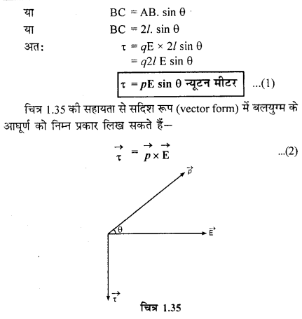 RBSE Class 12 Physics Chapter 1 Notes In Hindi