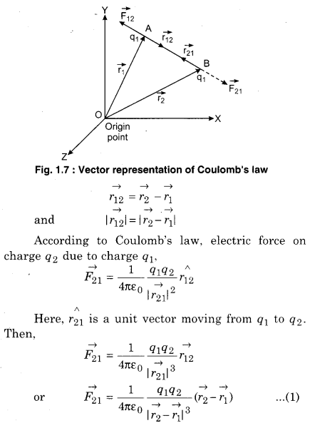 Physics Class 12 RBSE Solutions Electric Field