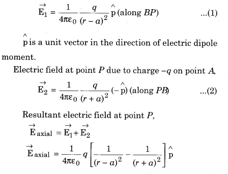 RBSE Solutions For Class 12 Physics Chapter 2 Electric Field