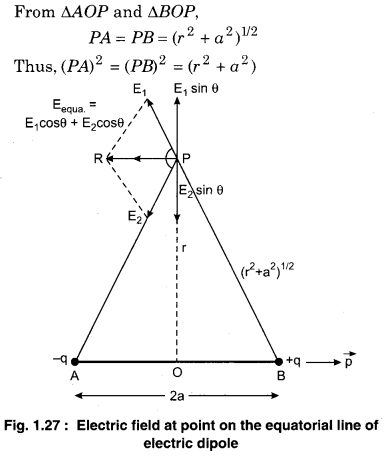 RBSE Solutions For Class 12th Physics Electric Field
