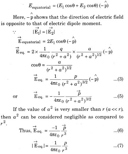 RBSE Class 12th Physics Solution Electric Field