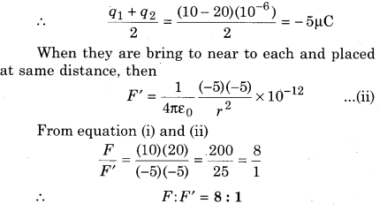 RBSE Solutions For Class 12 Physics Chapter 1 In Hindi Electric Field